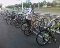 Populārākā velostāvvieta Rīgā - pie tirdzniecības centra Olympia